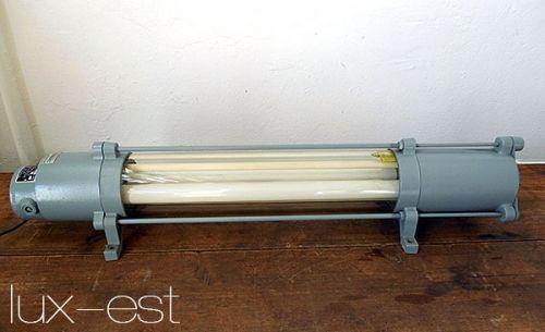 'TORGAU S' Industriedesign Neon Fabrik Lampe VEB DDR