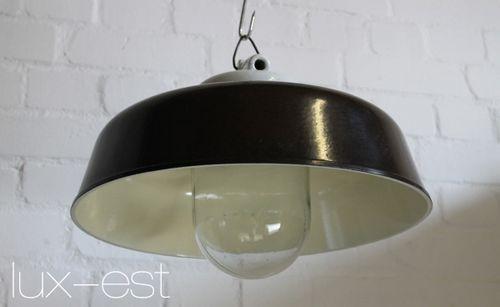 'APOLDA' Industriedesign Fabrik Lampe Glas Bakelit Porzellan