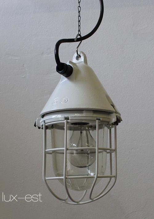 'THALE S SNOW' Industrie Design Ex Geschuetzte Lampe Weiss