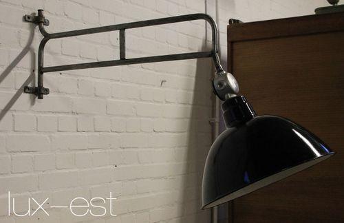 'LEVIN GOTHA L' Ausleger Fabrik Lampe Industrie Design