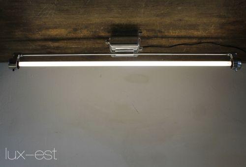 'DESSAU ICE FIX' Industrie Design Fabrik Lampe Hochglanz poliert