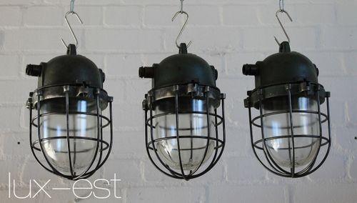 'ORLA PETROL' Ex Geschuetzte Industrielampe Design Bunkerlampe