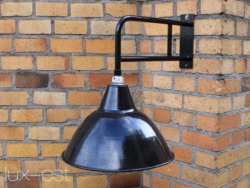 'LEVIN RIESA M' Ausleger Fabrik Lampe Industrie Design Vintage