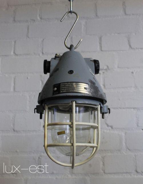 'THALE XS ORIGINAL' Industrie Lampe Fabrik Bunker Ex Geschuetzte