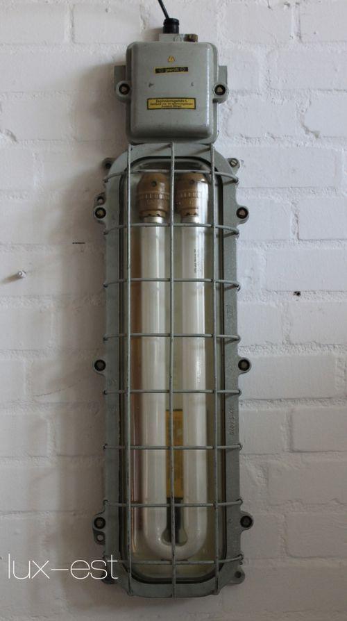 'BERNAU' Industrie Design Ex Bunker Lampe Neon EOW