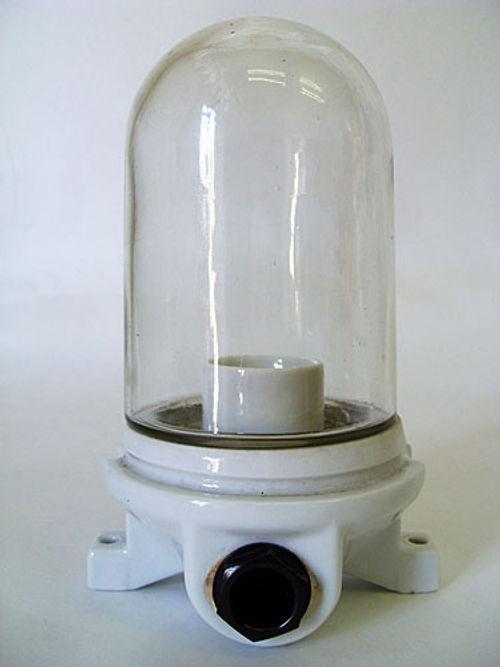 'HALLE S' Bauhaus Lampe Porzellan Industriedesign Siemens 1930
