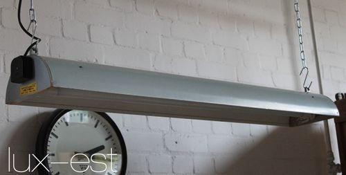 'MROSEK GREY' LED Industriedesign Fabrik Neon Holz Lampe Vintage