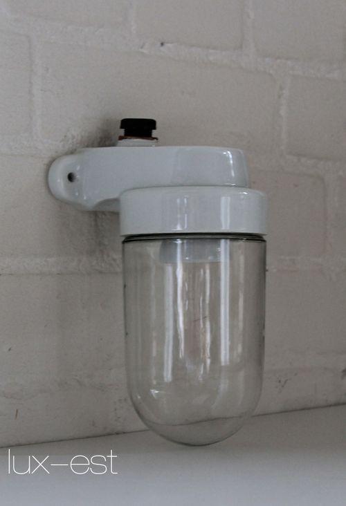 'TRIER S 90°' Bauhaus Design Lampe Porzellan Vintage VERKAUFT