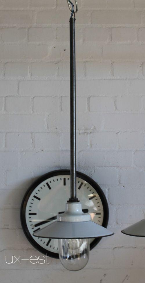 'VISTA M PENDEL III' Industrie Design Pendel Lampe Emaille