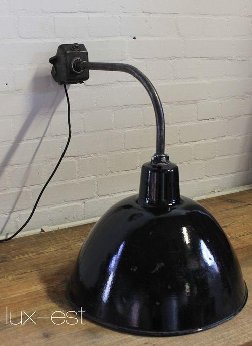 'LEVIN GOTHA L I'  Ausleger Fabrik Lampe Industrie Design Vintage