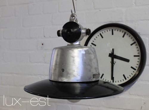 'AUMA S RAW' Industrie Design Fabrik Lampe Aluminium Vintage Loft