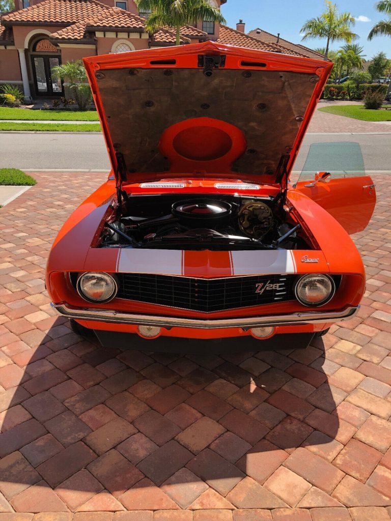 frame off resto 1969 Chevrolet Camaro Z28 restored