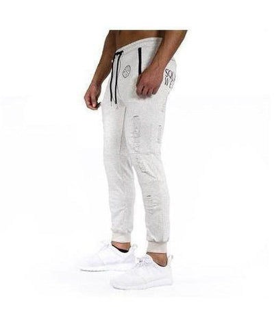 Squad Wear Distressed Joggers Grey-Squad Wear-Gym Wear