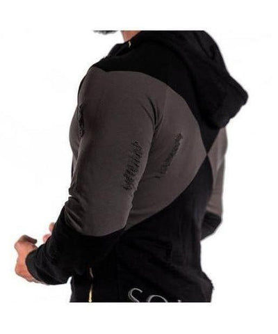 Squad Wear Distressed Hoodie Black-Squad Wear-Gym Wear