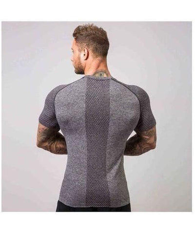 Muscle Nation Ghost Seamless T-Shirt Grey-Muscle Nation-Gym Wear