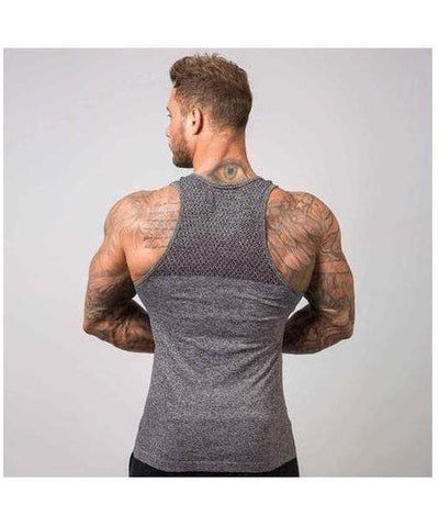 Muscle Nation Ghost Seamless Sleeveless T-Shirt Grey-Muscle Nation-Gym Wear