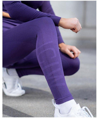 ICIW Define Seamless High Waited Leggings Purple