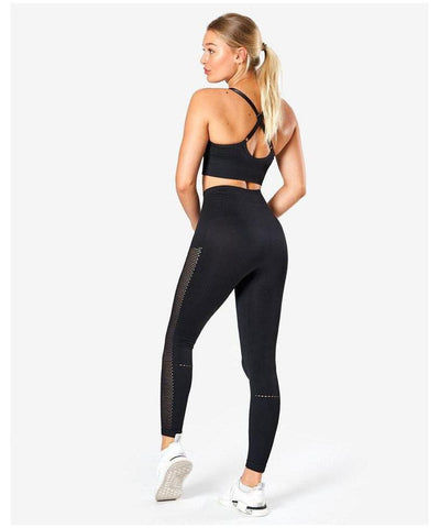 ICIW Scrunch Bum High Waisted Leggings Black-ICIW-Gym Wear