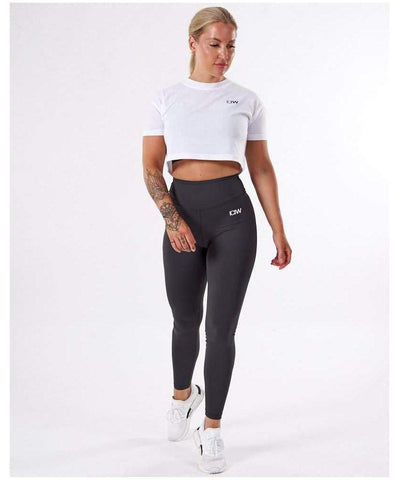 ICIW Scrunch Bum High Waisted Leggings Charcoal-ICIW-Gym Wear
