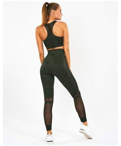 ICIW Seamless Leggings Green Camo-ICIW-Gym Wear