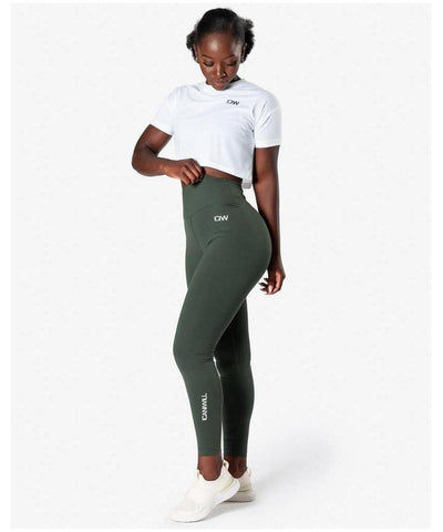 ICIW Scrunch Bum High Waisted Leggings Green-ICIW-Gym Wear