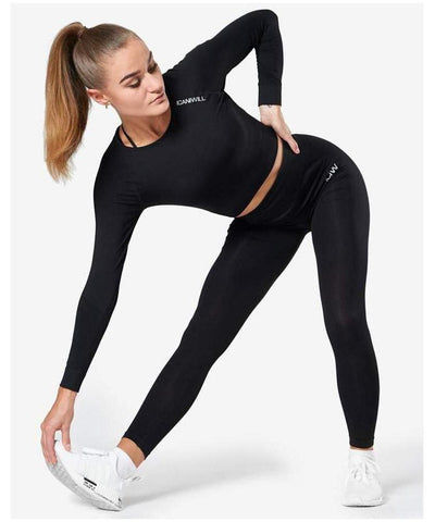 ICIW Define Seamless High Waited Leggings Black-ICIW-Gym Wear