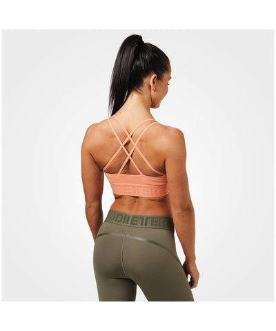 Better Bodies Astoria Sports Bra Peach-Better Bodies-Gym Wear