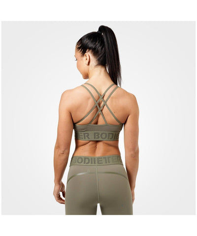 Better Bodies Astoria Sports Bra Green-Better Bodies-Gym Wear