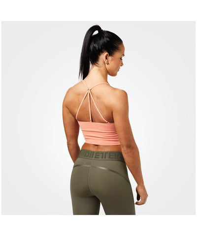 Better Bodies Astoria Seamless Sports Bra Peach-Better Bodies-Gym Wear