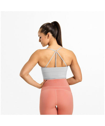 Better Bodies Astoria Seamless Sports Bra Frost Grey-Better Bodies-Gym Wear