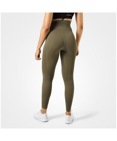 Better Bodies Bowery High Waisted Leggings Khaki-Better Bodies-Gym Wear
