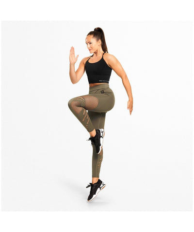 Better Bodies Waverly High Waisted Leggings Green-Better Bodies-Gym Wear