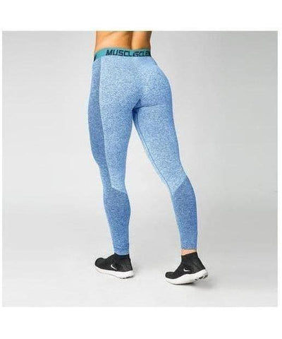 Muscle Nation Luxe Seamless Leggings Blue-Muscle Nation-Gym Wear