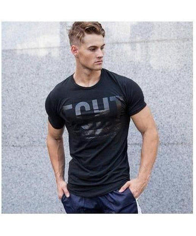 Echt Mens Performance T-Shirt Black-Echt-Gym Wear