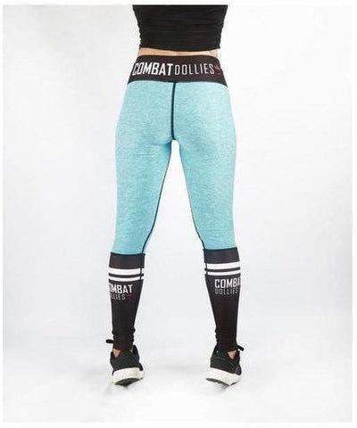 Combat Dollies Crossfit Fitness Leggings Blue-Combat Dollies-Gym Wear