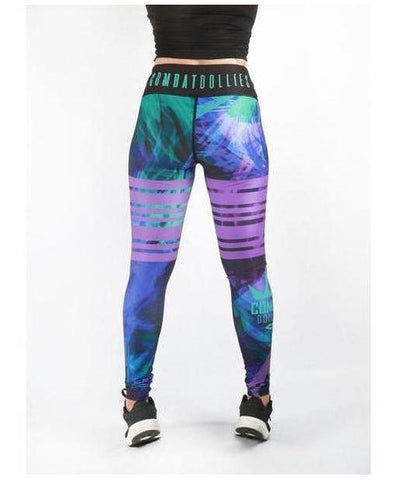 Combat Dollies Suzie Blues Fitness Leggings-Combat Dollies-Gym Wear