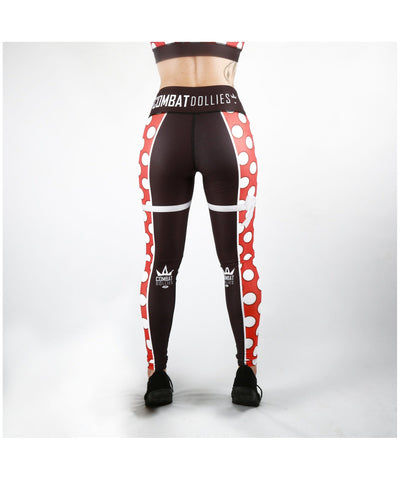 Combat Dollies Red Polka Dot Fitness Leggings