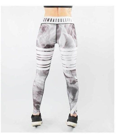 Combat Dollies Smoking Fitness Leggings White-Combat Dollies-Gym Wear