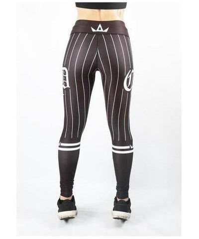 Combat Dollies Baseball Fitness Leggings Black/Black