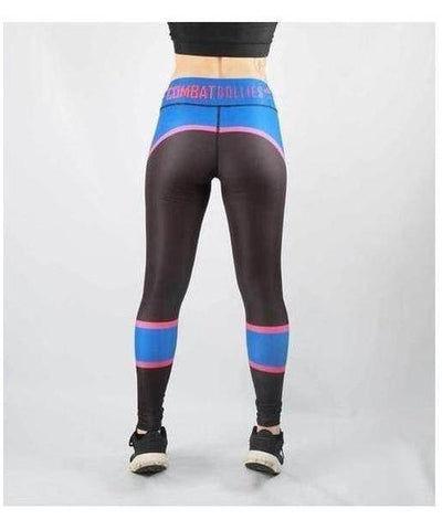 Combat Dollies Trinity Fitness Leggings Blue-Combat Dollies-Gym Wear