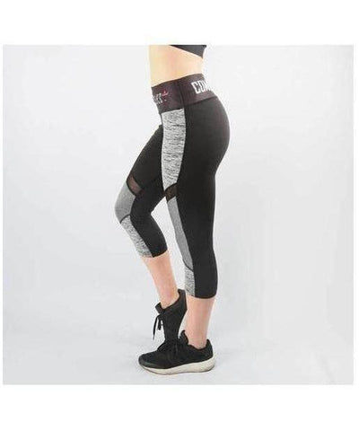 Combat Dollies Mesh Capri Fitness Leggings Grey-Combat Dollies-Gym Wear