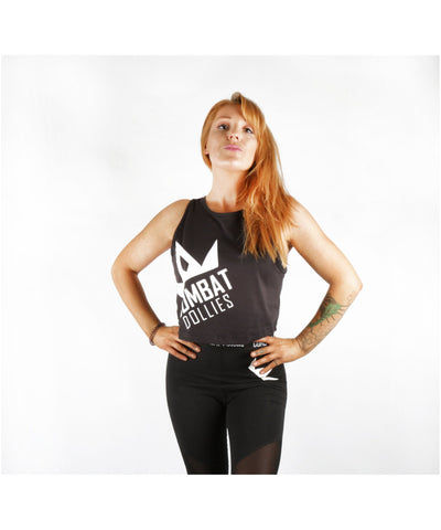 Combat Dollies Cropped Vest Black