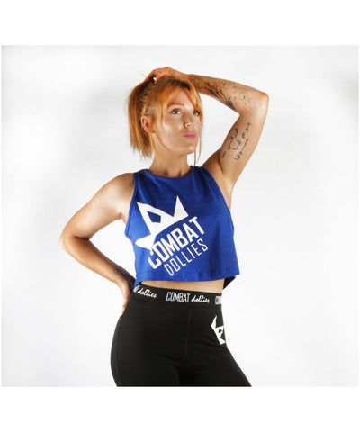 Combat Dollies Cropped Vest Blue
