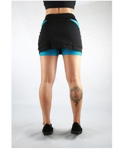 Combat Dollies Training Skort Blue/Black-Combat Dollies-Gym Wear