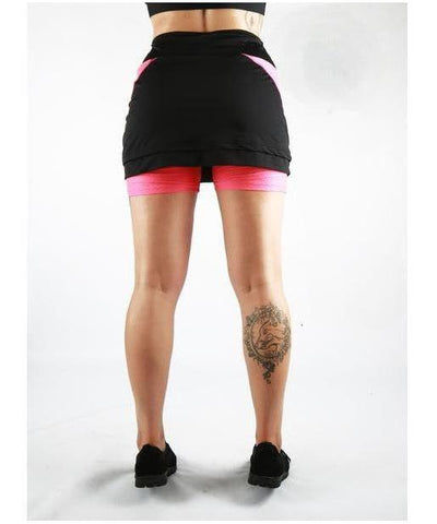 Combat Dollies Training Skort Pink/Black-Combat Dollies-Gym Wear