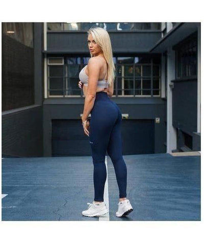 Womens Echt Impetus Accent Leggings Navy/Navy-Echt-Gym Wear