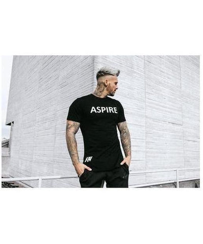 Aspire Wear Elite T-Shirt Black/White-Aspire Wear-Gym Wear