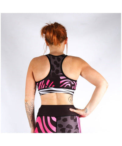 Combat Dollies Wild Pinks Sports Bra-Combat Dollies-Gym Wear