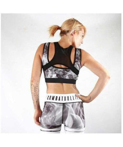 Combat Dollies Smoking Sports Bra-Combat Dollies-Gym Wear