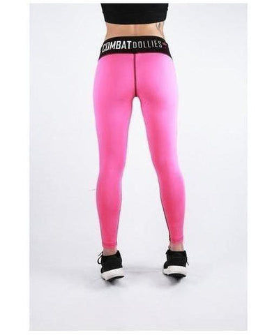 Combat Dollies Hot Pink Mix Fitness Leggings-Combat Dollies-Gym Wear
